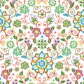 Embroidery seamless pattern with beautiful flowers. Vector floral ornament on white background. Embroidery for fashion
