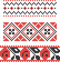 Embroidery Slavic cross pattern Stock Photography
