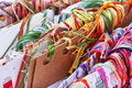 Embroidery threads floss color Royalty Free Stock Photos