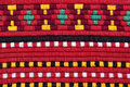 Embroidery traditional materials and bulgarian red tint Royalty Free Stock Images