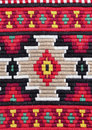 Embroidery traditional materials and bulgarian red tint Royalty Free Stock Photography