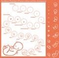Embryo development hand drawn illustration of a human fetus and Stock Photo
