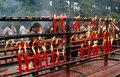 Emeishan, China: Candles at Wan Nian Temple Stock Photos