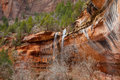 Emeral Pool Waterfall at Zion National Park Royalty Free Stock Photo