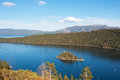 Emerald bay lake tahoe california fannette island sits within on Stock Images