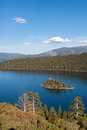 Emerald bay lake tahoe california fannette island sits within on Royalty Free Stock Photography