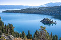 Emerald bay in lake tahoe overlooking fannette island Royalty Free Stock Photos
