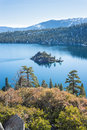 Emerald bay in lake tahoe overlooking fannette island Stock Photos