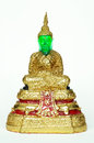 Emerald buddha on white background Royalty Free Stock Photos