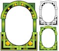 Emerald city art deco border style with variations Royalty Free Stock Images