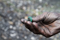 Emerald colombia found in muzo Royalty Free Stock Image