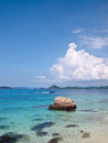 Emerald color sea in Ko Kham island Royalty Free Stock Photo
