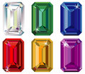 Emerald cut precious stones with sparkle Royalty Free Stock Photo