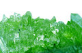 Emerald gem geode geological crystals Royalty Free Stock Photo