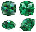 Emerald gem isolated Stock Image