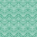 Emerald green hand drawn vector zigzag pattern seamless with lines texture for web print home decor textile wrapping paper Stock Photo
