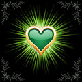 Emerald heart Royalty Free Stock Images