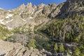 Emerald Lake Below Mountain Spires