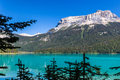 Emerald lake british columbia canada in the yoho national park Stock Image