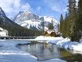 Emerald Lake, Canadian Rockies Royalty Free Stock Image