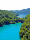 Emerald lake at plitvice lakes national park beautiful nature Stock Photography