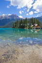 Emerald lake yoho national park bc in british columbia canada Stock Images