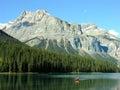 Emerald lake yoho national park british columbia canada mountains reflected in Stock Photo