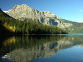 Emerald lake yoho national park british columbia canada mountains reflected in Royalty Free Stock Images
