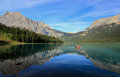 Emerald lake yoho national park brits colombia canada Stock Afbeelding