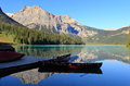 Emerald lake yoho national park brits colombia canada Royalty-vrije Stock Foto