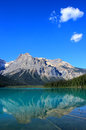 Emerald lake yoho national park brits colombia canada Royalty-vrije Stock Foto's