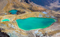 Emerald lakes tongariro national park new zealand Royalty Free Stock Photo