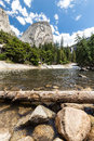 Emerald Pool and Liberty Cap in Yosemite National Park Royalty Free Stock Photo