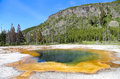 Emerald Pool at Yellowstone National Park Royalty Free Stock Photo