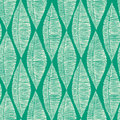 Emerald Tribal Leaves Seamless Pattern