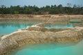 Emerald water pool pond plash in ubonratchatani Royalty Free Stock Images