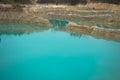 Emerald water pool pond plash in ubonratchatani Stock Photos