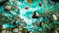 Emerald waters of Soca river, are the rafting paradise Royalty Free Stock Photo
