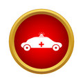 Emergency ambulance icon, simple style Royalty Free Stock Photo