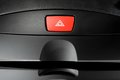 Emergency button car warning light in front car console Royalty Free Stock Photos