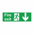 Emergency exit or fire exit sign vector design