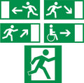 Emergency exit icons Royalty Free Stock Photo