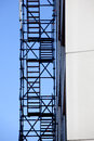 Emergency exit scaffolding for fire escape Royalty Free Stock Images