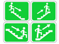 Emergency exit signs Royalty Free Stock Photo
