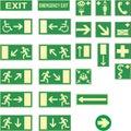Emergency exit sings Stock Image