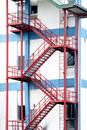 Emergency exit stairs Royalty Free Stock Photo