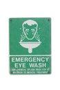 Emergency Eye Wash Sign Royalty Free Stock Photo