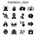 Emergency icon set Royalty Free Stock Photo