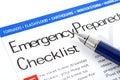 Pohotovostní připravenost kontrolní seznam