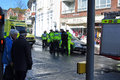 Emergency Services at accident swanage dorset Stock Photography